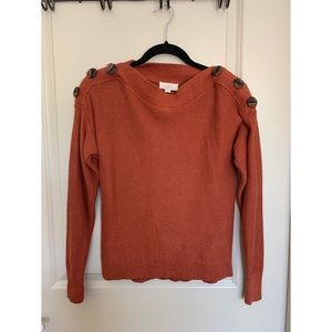 Rust Brown Long Sleeve Sweater
